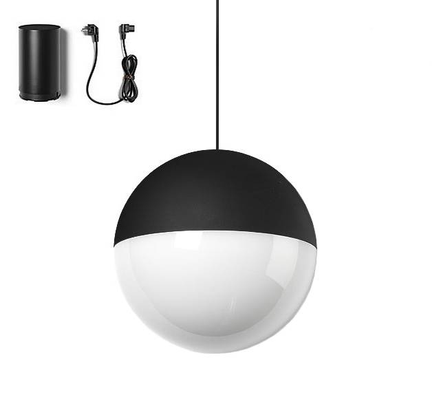 FLOS lampe à suspension STRING LIGHT SPHÈRE 12 mètres avec FLOOR SWITCH
