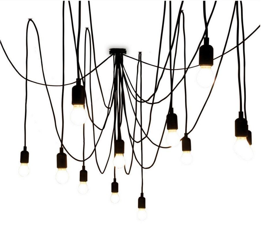 SELETTI lampe à suspension MAMAN avec 14 LED (avec variateur avec ampoules satinées - Silicone, plastique et métal)