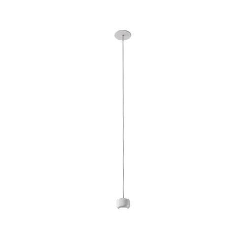 AXO LIGHT lampe à suspension URBAN MINI RECESSED (H 4,7 cm Blanc froissé - Aluminium)