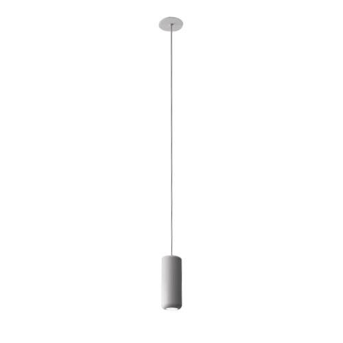 AXO LIGHT lampe à suspension URBAN MINI RECESSED (H 17,6 cm Blanc froissé - Aluminium)