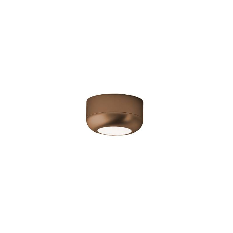 AXO LIGHT lampe à plafond URBAN MINI (H 3,5 cm Bronze opaque - Aluminium)