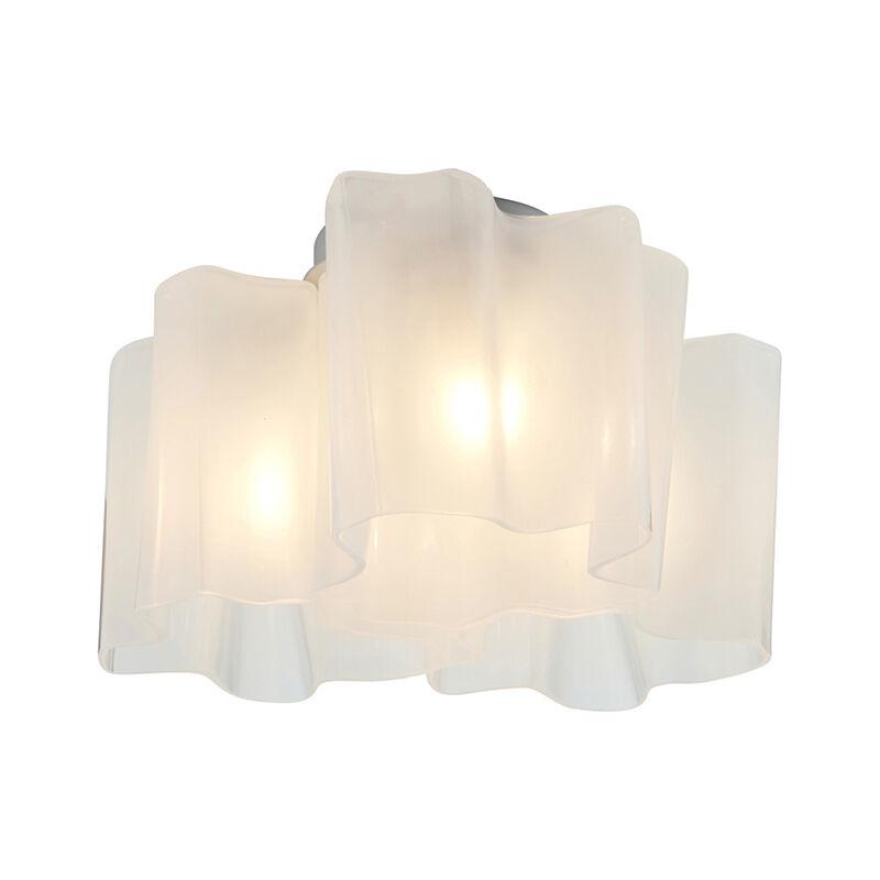 ARTEMIDE lampe au plafond plafonnier LOGICO MINI 3x120° (Logico Mini Ceiling 3x120° - Verre soufflé, aluminium)