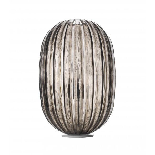 FOSCARINI lampe de table PLASS MEDIA DIMMER (Gris - polycarbonate en roto-moulage et acier)