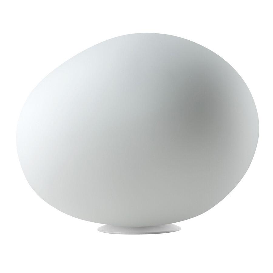 FOSCARINI lampe de table GREGG GRAND (ON/OFF - verre soufflé traité à l'acide et métal verni)