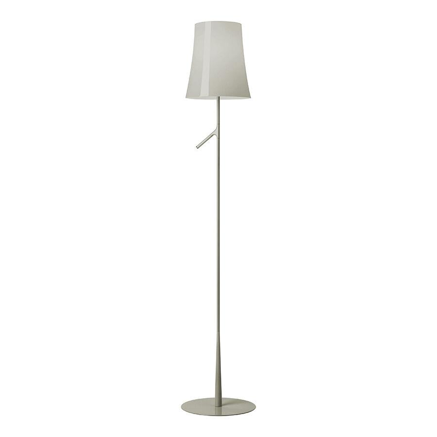 FOSCARINI lampadaire BIRDIE ON/OFF (Gris - polycarbonate, acier et métal verniciati)