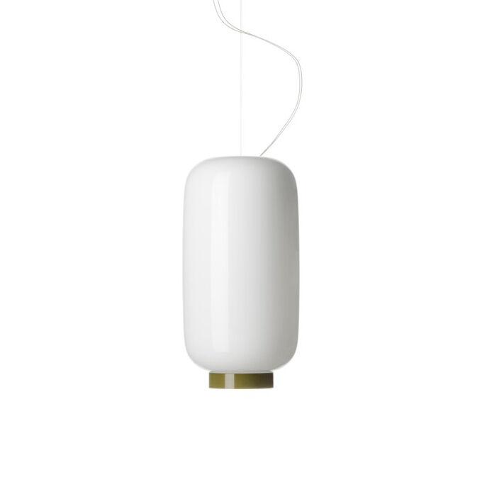 FOSCARINI lampe à suspension CHOUCHIN REVERSE 2 (Blanc / Vert - Peint verre soufflé)