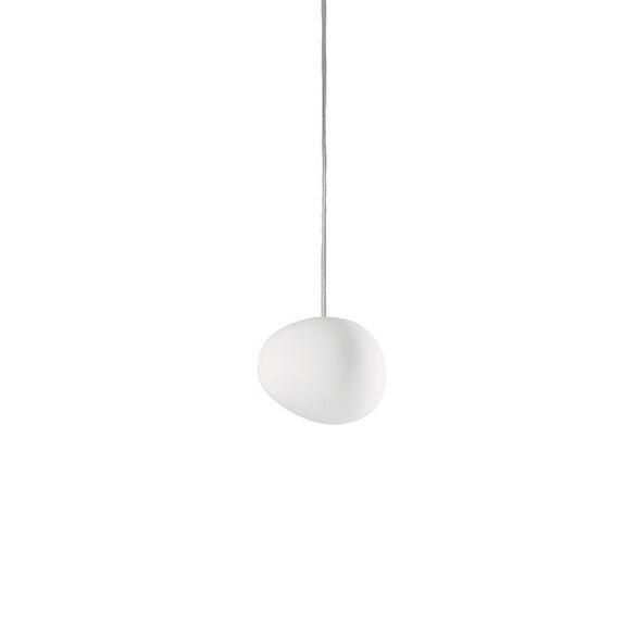 FOSCARINI lampe à suspension GREGG PETIT (Blanc - verre soufflé traité à l'acide)