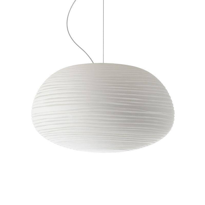 FOSCARINI lampe à suspension RITUALS 2 (Blanc - Verre soufflé et métal verni)