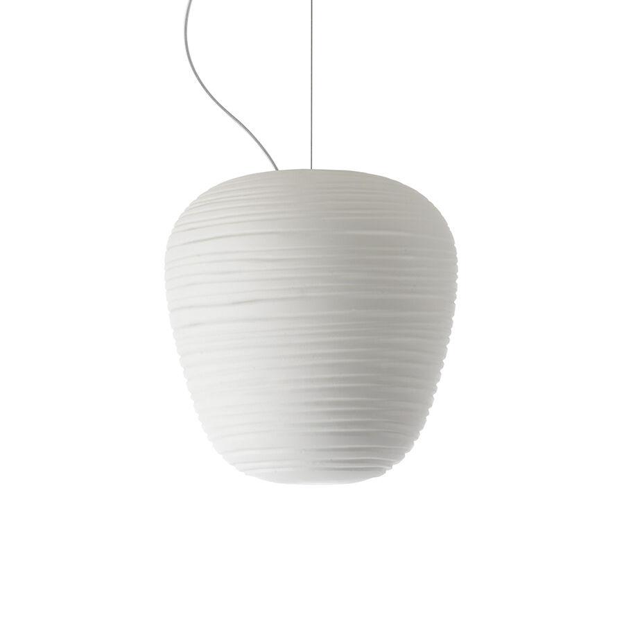 FOSCARINI lampe à suspension RITUALS 3 (Blanc - Verre soufflé et métal verni)