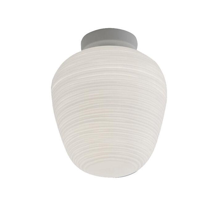 FOSCARINI lampe au plafond plafonnier RITUALS 3 (Blanc - Verre soufflé et métal verni)