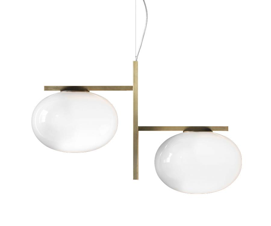 OLUCE lampe à suspension ALBA (Doppia - verre souflé)
