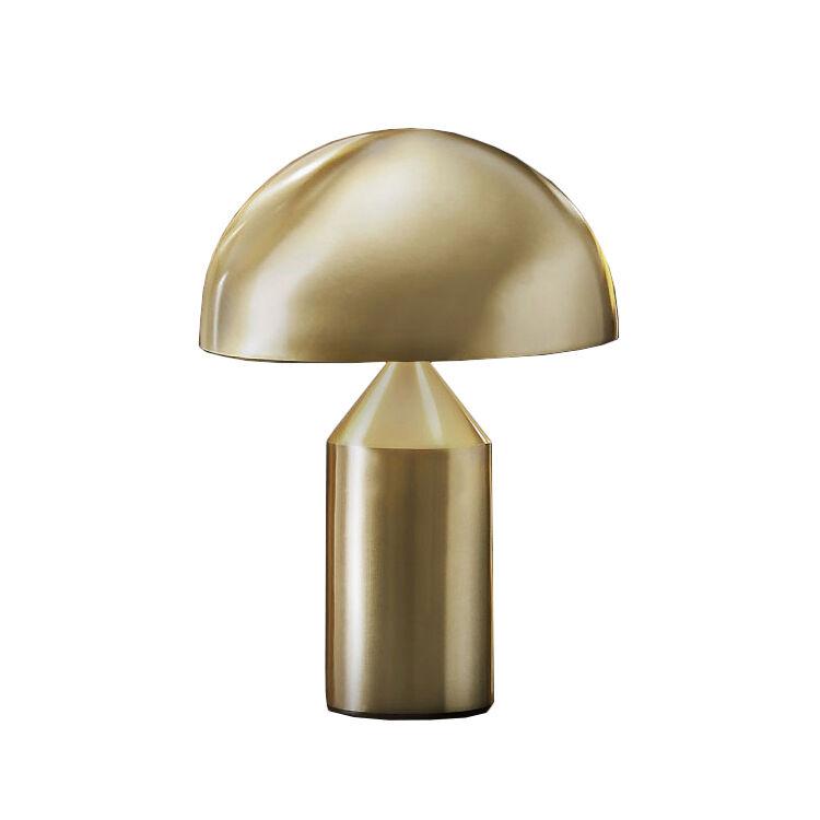 OLUCE lampe de table ATOLLO PETITE (Extérieur or, intérieur blanc - Métal)