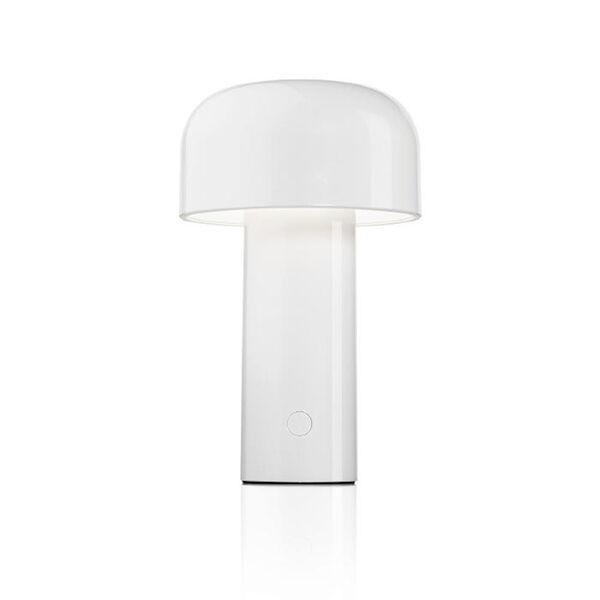 FLOS lampe de table sans fil rechargeable BELLHOP (Blanc - Polycarbonate)