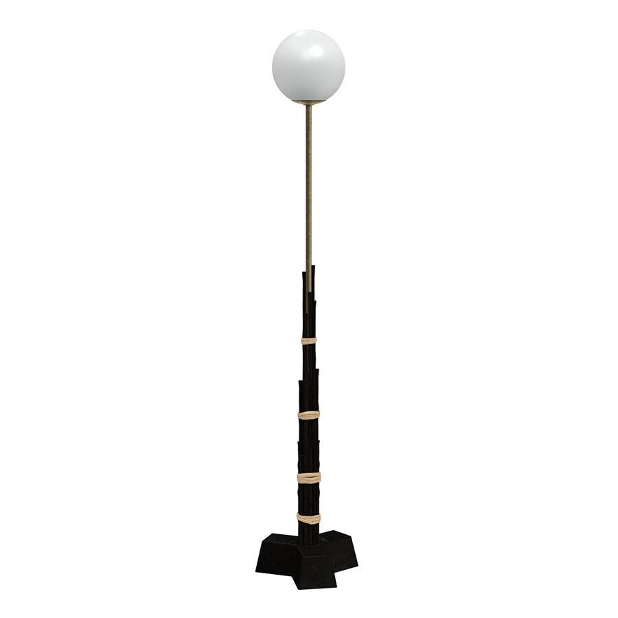 GERVASONI lampadaire BLACK 93 (H 130 cm - Black bamboo, laiton et verre)