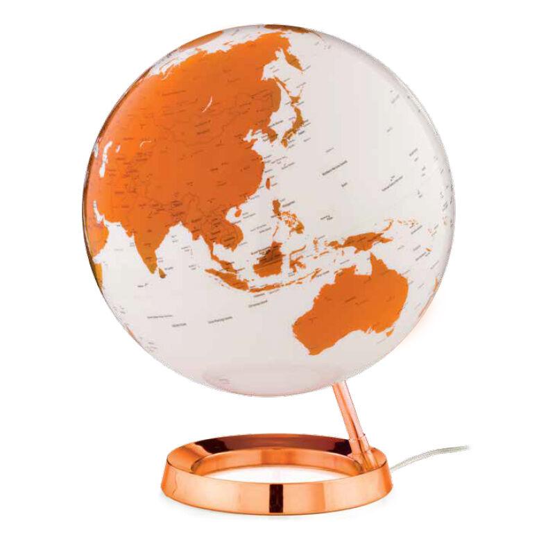 ATMOSPHERE lampe de bureau mappemonde LIGHT & COLOUR BRIGHT (Hot Tangerine - PMMA)