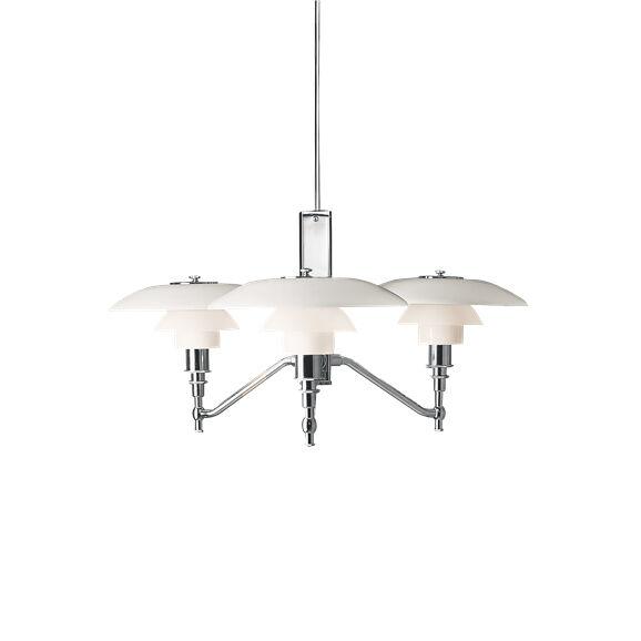 LOUIS POULSEN lampe à suspension PH 3/2 ACADEMY (Chrome extra brillant - Aluminium)
