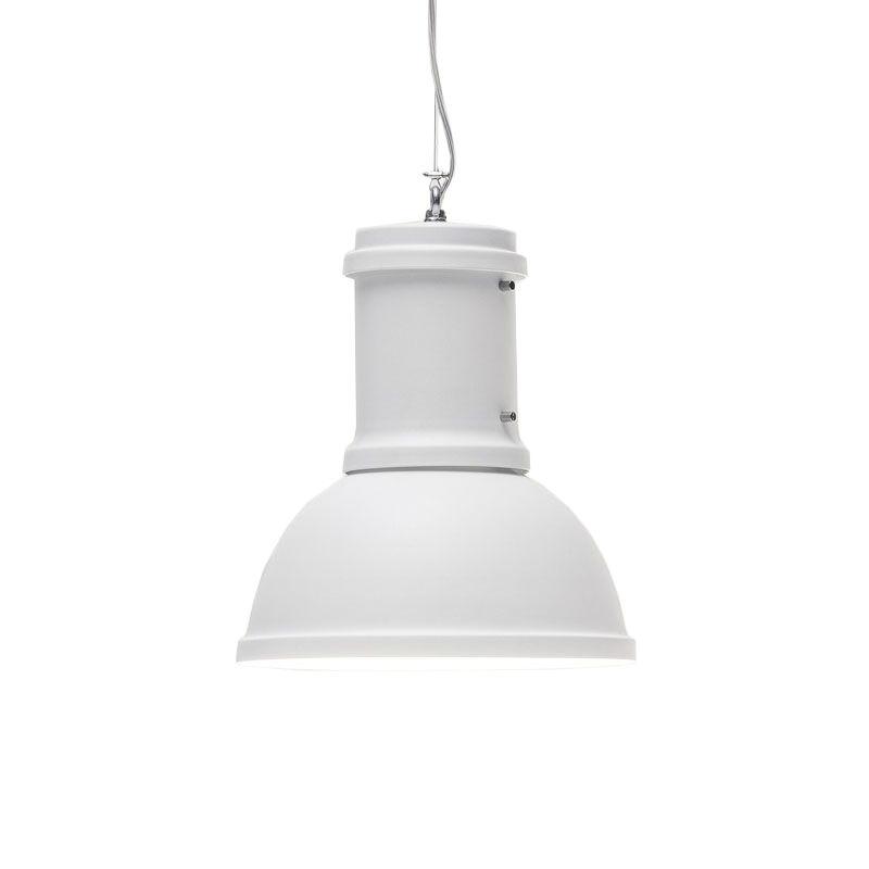 FONTANA ARTE lampe à suspension LAMPARA LARGE (Blanc - Métal verni)