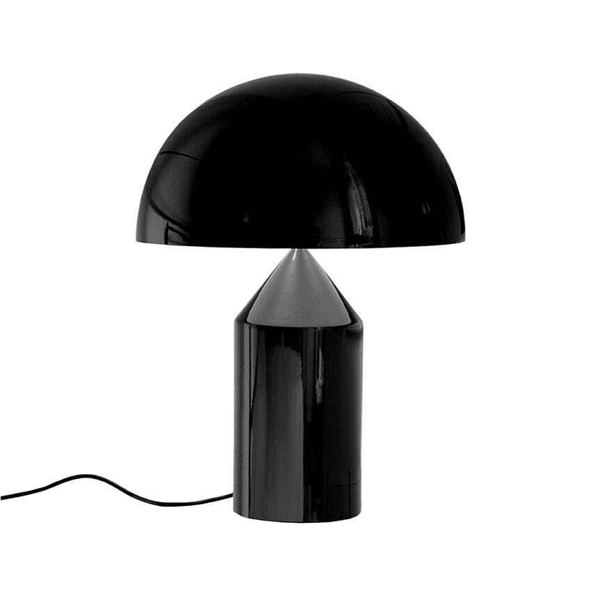 OLUCE lampe de table ATOLLO PETITE (Extérieur noir, intérieur blanc - Métal)
