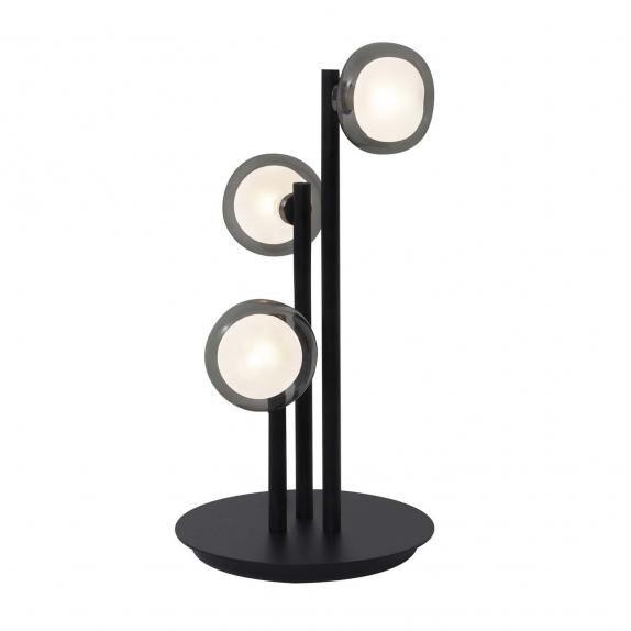 TOOY lampe de table NABILA 552.33 (Variateur sur câble, chrome noir, fumé - verre et métal)