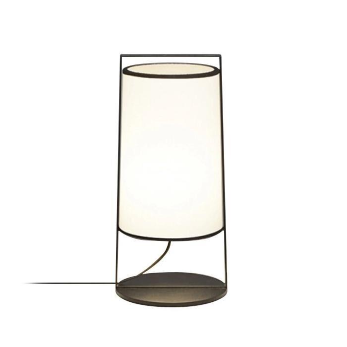 TOOY lampe de table MACAO 551.32 (Variateur sur câble, blanc - tissu et métal)