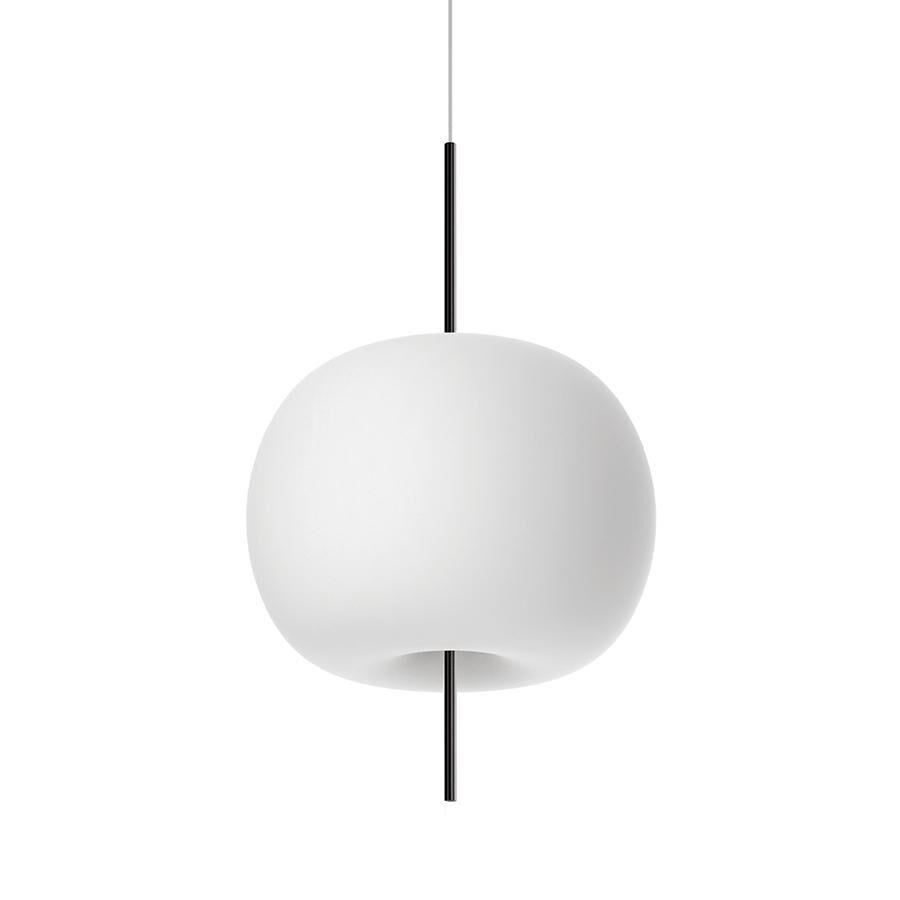 KUNDALINI lampe à suspension KUSHI XL (Noir - Verre soufflé et métal)
