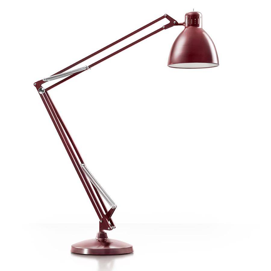 LEUCOS lampadaire THE GREAT JJ (Rouge amarante opaque - Aluminium)