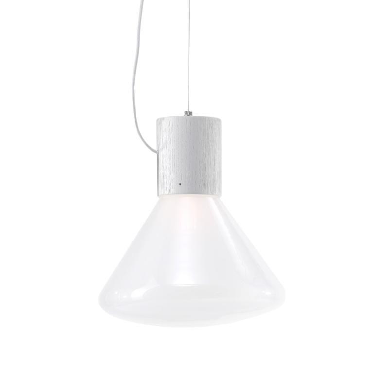 BROKIS lampe à suspension MUFFINS WOOD 05P (Triplex opal et blanc - Verre soufflé et bois)