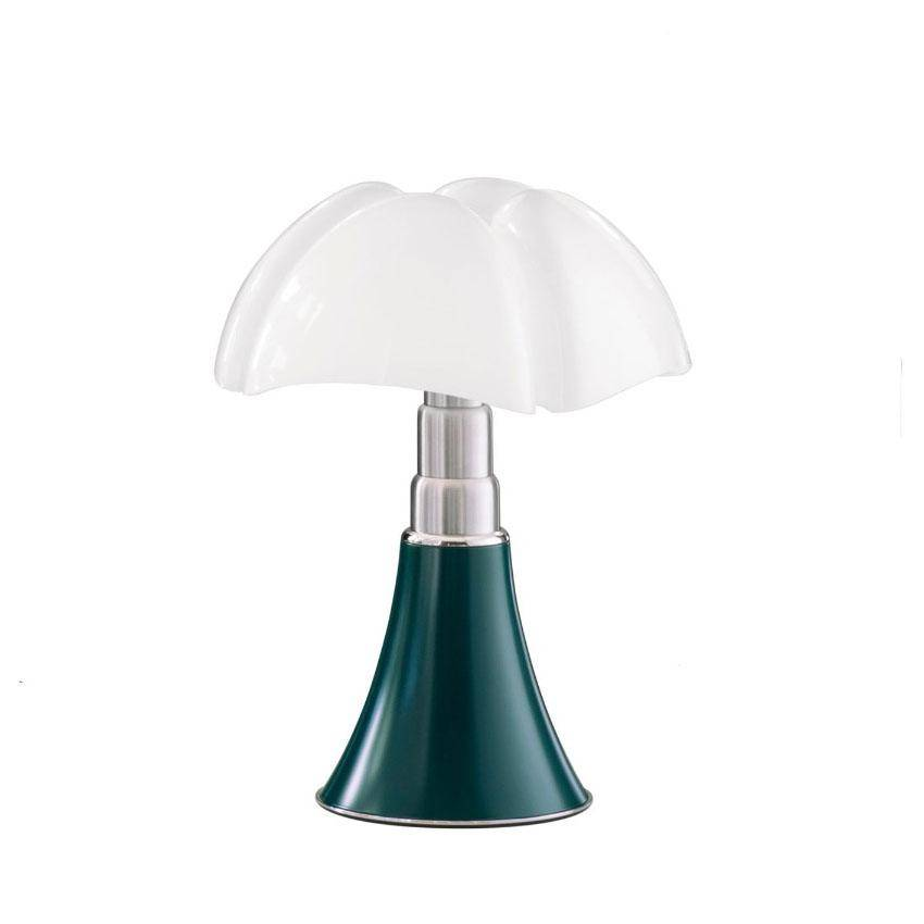 MARTINELLI LUCE lampe de table MINIPIPISTRELLO CORDLESS (Vert d'agave - Métal et méthacrylate)