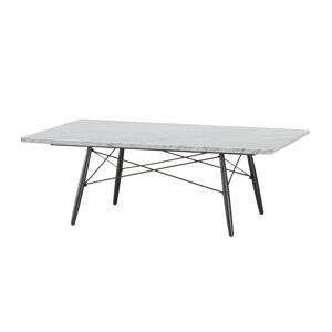 VITRA table basse rectangulaire EAMES COFFEE TABLE (Marbre de Carrare - Marbre brossé et ciré, frêne massif et acier) - Publicité