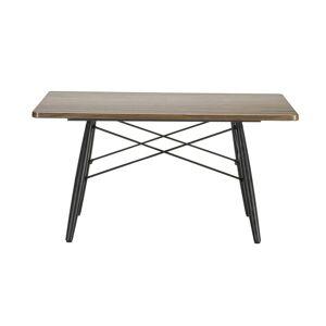 VITRA table basse carré EAMES COFFEE TABLE (Noyer américain - Bois massif huilé, frêne massif et acier) - Publicité