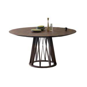 MINIFORMS table ronde ACCO Ø 155 cm (Noyer foncé - Bois) - Publicité
