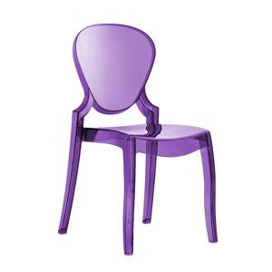 PEDRALI chaise QUEEN (Violet - Polycarbonate) - Publicité