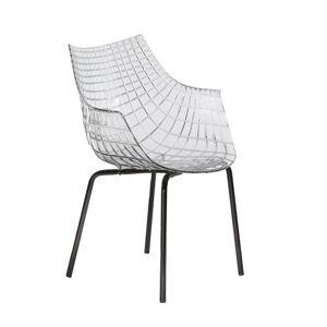 DRIADE fauteuil avec la base noir MERIDIANA (Transparent - Polycarbonate/Acier laqué noir) - Publicité