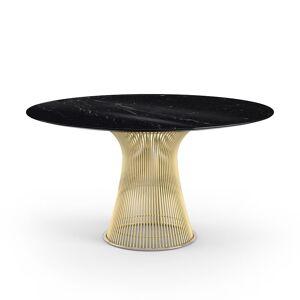 KNOLL table ronde PLATNER Ø 135 cm (Or 18k / Noir Marquina - Métal / marbre) - Publicité