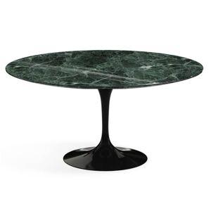 KNOLL table ronde TULIP Ø 152 cm collection Eero Saarinen (Base noire / plateau en Verde Alpi - marbre et aluminium) - Publicité