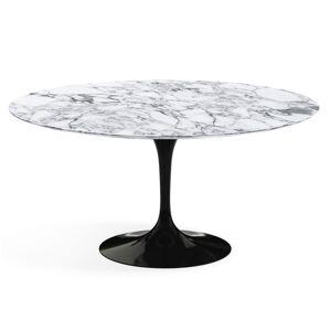 KNOLL table ronde TULIP Ø 152 cm collection Eero Saarinen (Base noire / plateau Arabescato satin - marbre et aluminium) - Publicité