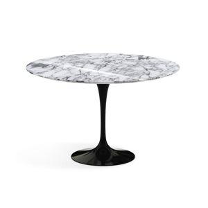 KNOLL table ronde TULIP Ø 120 cm collection Eero Saarinen (Base noire / plateau Arabescato - marbre et aluminium) - Publicité