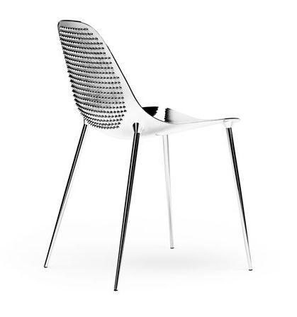 OPINION CIATTI set de 2 chaises MAMMAMIA PUNK (Mirror avec rivets chromés - Métal)