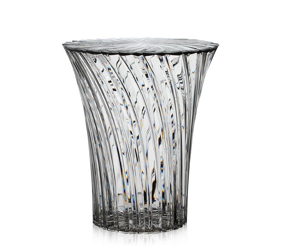 KARTELL tabouret SPARKLE (Cristal - PMMA transparent)