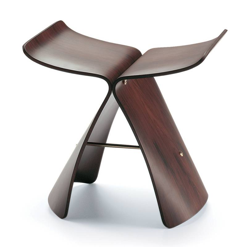 VITRA tabouret BUTTERFLY STOOL (Palissandre - multi-couches verni)