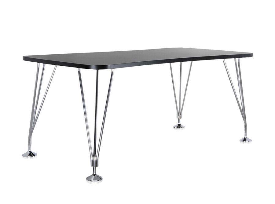 KARTELL table sur pieds MAX (L 160 cm / Ardoise - Pleateau laminé anti-rayures / Structure en acier chromé)