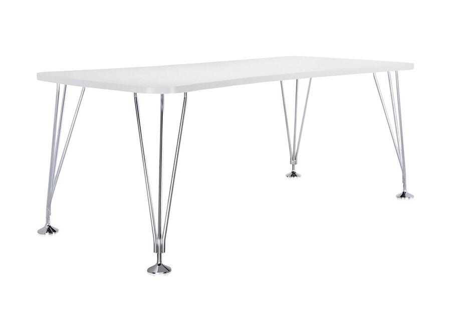 KARTELL table sur pieds MAX (L 190 cm / Blanc zinc - Pleateau laminé anti-rayures / Structure en acier chromé)