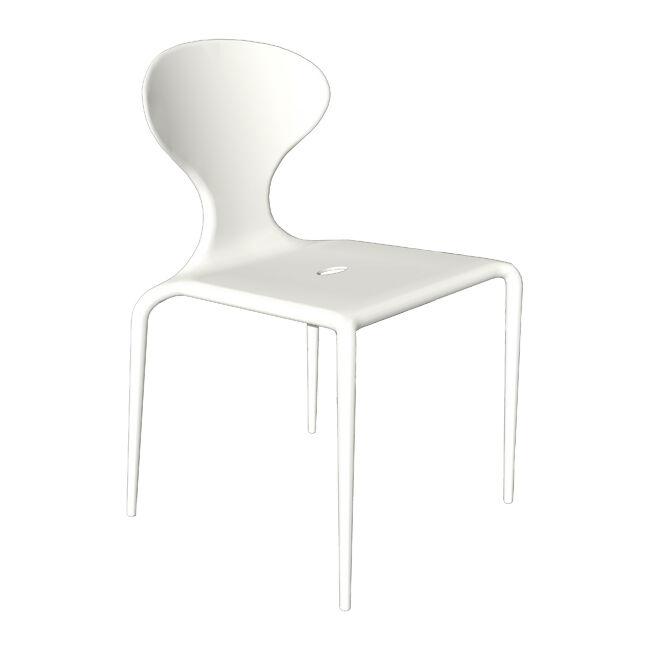 MOROSO ensemble de 4 chaises SUPERNATURAL (Blanc - Polypropylène)