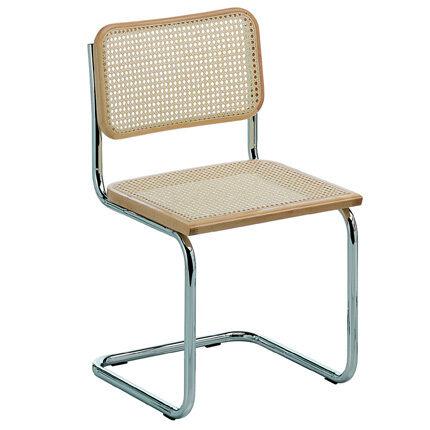 KNOLL chaise CESCA by Marcel Breuer (Hêtre naturel - Paille de Vienne et acier)