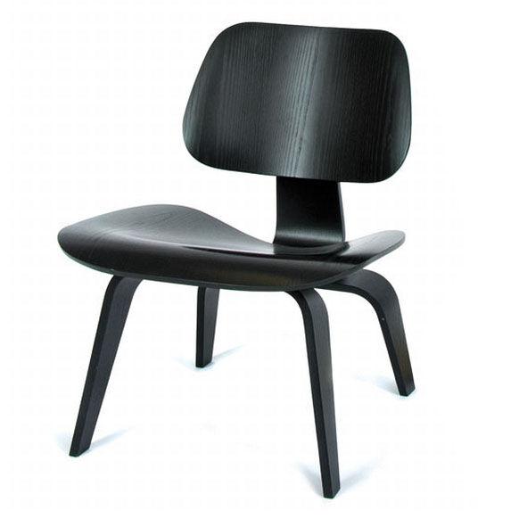 VITRA chaise longue Plywood LCW (Noir - frêne multi-couche)