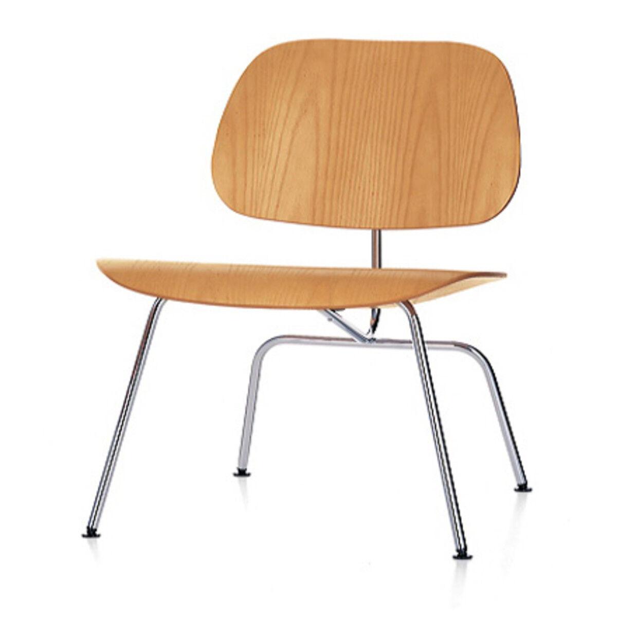 VITRA chaise longue Plywood LCM (Naturel / Chromé - frêne multi-couche / acier)