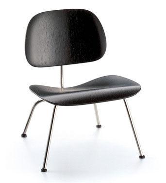 VITRA chaise longue Plywood LCM (Noir / Chromé - frêne multi-couche / acier)