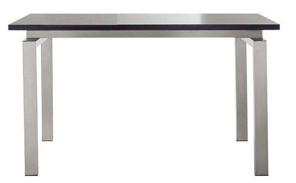 PEDRALI table TS-SPACE (Plateau trasparent L 160 cm - Acier Inox / Verre)