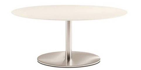PEDRALI table ronde INOX ELLITTICO 4901 (L 160 cm - Acier Inox)