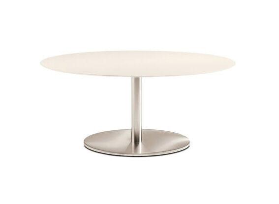 PEDRALI table ronde INOX ELLITTICO 4903 (L 120 cm - Acier Inox)